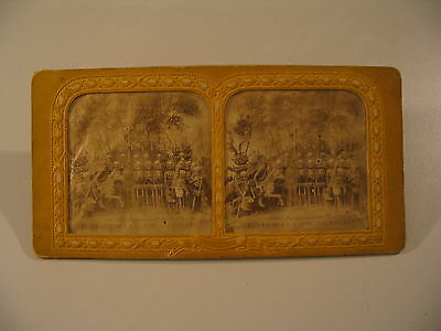 Tissue Stereoview Photo cdii Diableries Garde Infernale Skeleton Hell Soldiers