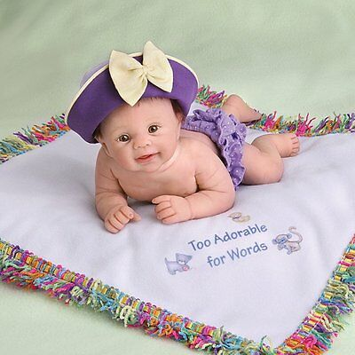 Ashton Drake TOO ADORABLE FOR WORDS Baby Doll by Sherry Rawn
