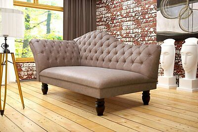 Hartford Sofa 2-Sitzer Couch Steppungen Chesterfield Recamiere 1145