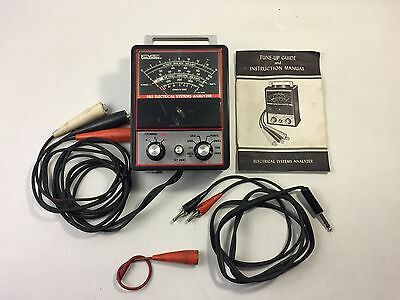 FOX VALLEY 965 ELECTRICAL SYSTEMS ANALYZER TESTER VINTAGE & Instruction manual