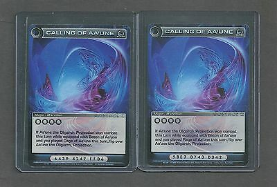 "Chaotic Mugic Cards - ""calling Of Aa'une X 2"" - Super Rare"