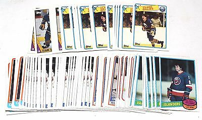 1980-1988 Topps Clark Gillies Lot Of 106 Cards 1981 1984 1985 1986 1987 Hky034
