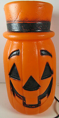 Halloween 119 Blow Mold Plastic Tall Jack-O-Lantern Pumpkin Light-up Vintage 11""