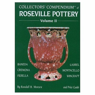 Roseville Art Pottery Baneda Cremonia Ferella Laurel Wincraft Etc / Book +Values