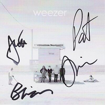 Weezer signed white album cd rivers cuomo