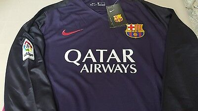 Barcelona Away 16/17 Away Official Nike Jersey Small New
