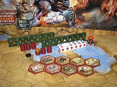 Swarm of the Marro White Dices Order Wound Glyphs Markers Green D20 Heroscape