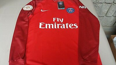 Paris Saint-Germain away 16/17 Guedes long sleeve red jersey official nike M