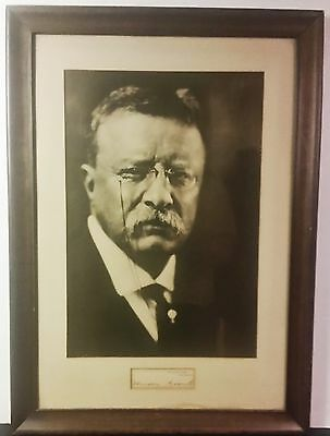 Theodore Roosevelt autograph on White House Card with Pirie MacDonald Photo