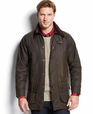 MENS Barbour Classic Beaufort' Relaxed Fit Waxed Cotton Jacket Size 44 (X-LARGE)