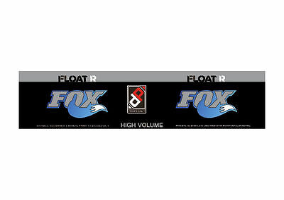 FOX Float X EVOL Performance 2018 Rear Shock Sticker Factory Decal Dolphin