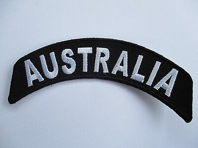 Australia Curved Embroidered Patch Sew/Iron Rider biker Motorcycle vest