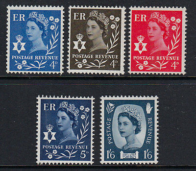 GB QEII Northern Ireland 1968 Definitives Mint Never Hinged MNH UMM SG NI7/NI11