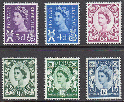 GB Scotland QEII 1958 Definitives Set S1-S6 Mint Never Hinged MNH UMM