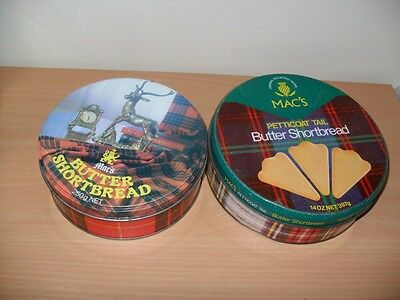 Mac's Petticoat Tail And Wedges Shortbread Biscuit Tins