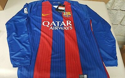 Barcelona Home 16/17 long sleeve official nike jersey x-large
