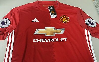 Manchester united Home 16/17 Pogba official adidas jersey large
