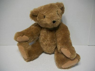 """Vermont Teddy Bear Brown 15"""" inch Jointed Moveable Original 2010"""