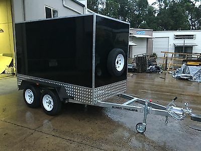 New Enclosed Tandem Trailer 3000 X 1500 X 1800 Rated 2000Kg Finance $50Pw