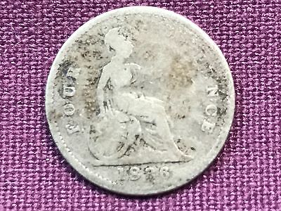 T2: World Coin Great Britain 1836 Fourpence