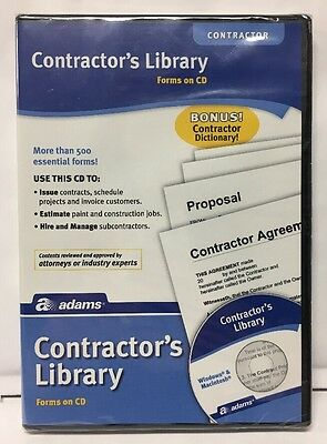 Adams Contractor's Library Forms on CD NEW