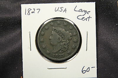 1827 Coronet Head Large Cent United States