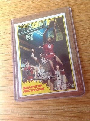 Julius Erving 1982 Topps Dr J NBA Basketball Trading Card