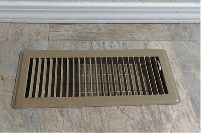 Metal Floor Register Vent Cover Ducted Heating 300 x 100mm  vents Holesize grill