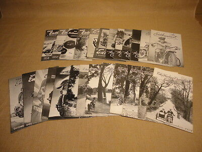 VINTAGE LOT OF 25 HARLEY DAVIDSON ENTHUSIAST MAGAZINES 1924 - 1957 MINT or NM