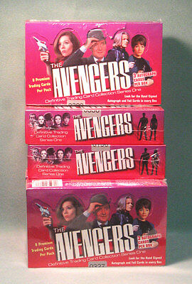 The AVENGERS, Series ONE Factory Sealed Trading Card BOX, British TV Series
