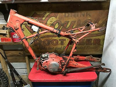 1979 Honda CR125 Frame Swingarm Engine  CR 125  CR125R  Elsinore Bottom End