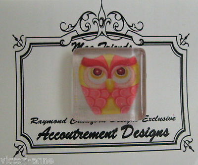 Accoutrement Designs Owl #15 Needle Minder Magnet Mag Friends Raymond Crawford
