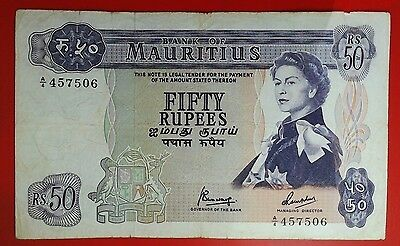Bank of Mauritius 50 Rupees