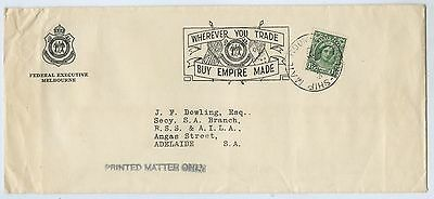 1930's Rsl Promotional Envelope Cancelled Ship Mail Room Melb G90