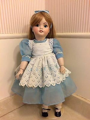 "Vintage SFBJ  #247 Paris 1982 22"" Bisque Doll  Antique Signed June Jiroch"