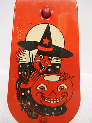 Vintage Witch Jack-o-Lantern Halloween Noisemaker USA (C)