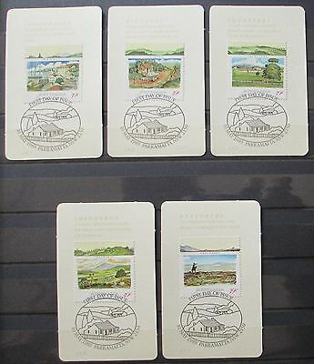 1989 The Pastoral Era - Set of 5 Stamp Collector Cards First Day of Issue Stamp