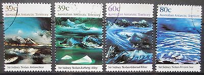 1989 AAT Nolan Antarctic Landscapes - Set of 4 Used Stamps