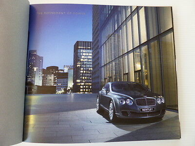 Bentley Continental GT & GT Speed 2010 Deluxe Hardcover Sales book/brochure.