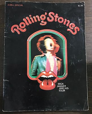 1970 Dell Rolling Stones Tour Magazine Mick Jagger And His Rolling Stones Rare