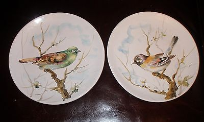 Vintage 1960s Italian Art Pottery Signed Original Birds Sparrow & Bunting MINT