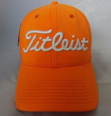 New Titleist Orange Tour Performance Fashion Hat/ Cap Adjustable