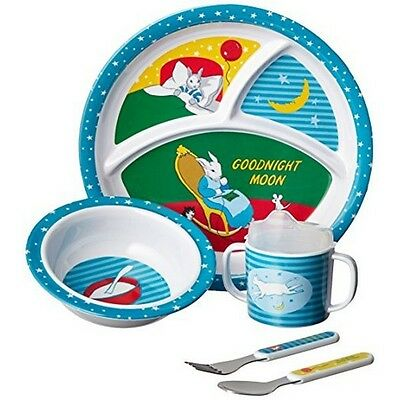 Kids Preferred 33330 5 Piece Goodnight Moon Melamine Mealtime Set