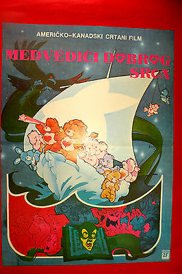 The Care Bears Movie 1985  Georgia Engel Mickey Rooney Unique Exyu Movie Poster