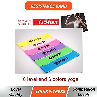 5 SET Heavy Duty POWER YOGA RESISTANCE BANDS LOOP Fitness Gym  Exercise Workout
