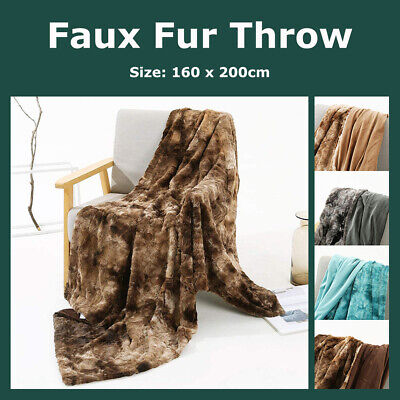 Pom Pom Knitting Throw Blanket 100% Cotton Crochet Bed Couch Home Decorative