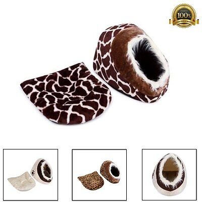 Pet Bed Warm  Dog Puppy Cat Kitten House Cushion Soft Cosy Igloo Fur Cave Basket