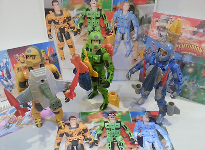 Vintage 1986 Kenner Centurions Ace McCloud Jake Rockwell Max Ray With Weapons**
