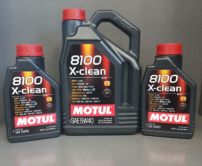 Motul Engine Oil 5W40 8100 X-Clean C3 Fully Synthetic 7 Litre Top SPECIAL PRICE#