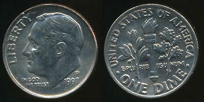 United States, 1997-P Dime, Roosevelt - Uncirculated